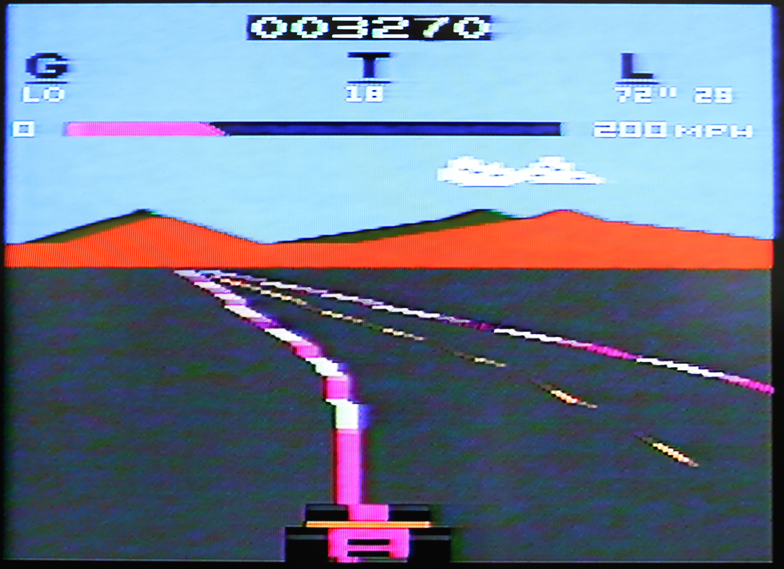 Pole Position on Atari 2600 before modification
